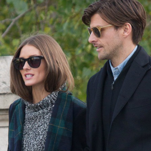 Olivia Palermo and Johannes Huebl Sighting in Paris