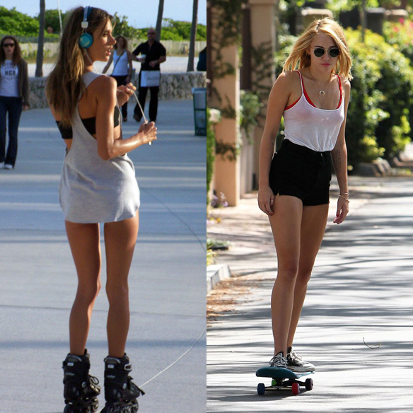 15colgadasdeunapercha_mens_sana_in_corpore_sano_patinaje_patinar_rollerskate__skate_skateboarding_alessandra_ambrosio_miley_cirus_13