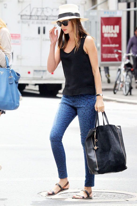 Victoria's Secret model Miranda Kerr goes out for a skin appointment New York City