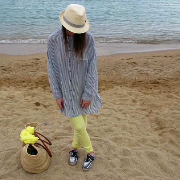 15colgadasdeunapercha_must_have_SS_14_PV_14_vestido_camisero_rayas_amarillo_yellow_shirt_dress_stripes_carla_kissler_5