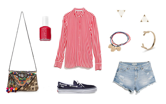 15colgadasdeunapercha_finde_looks_red_stripes_saturday_vs_b&w_black_and_white_vichy_sunday_1
