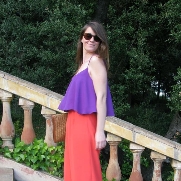 15colgadasdeunapercha_san_juan_saint_john_pantalon_palazzo_pants_crop_top_encaje_lace_orange_naranja_lila_purple_carla_kissler_4