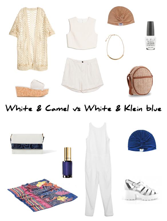 15colgadasdeunapercha_finde_looks_white_and_camel_saturday_vs_white_and_klein_blue_sunday_portada