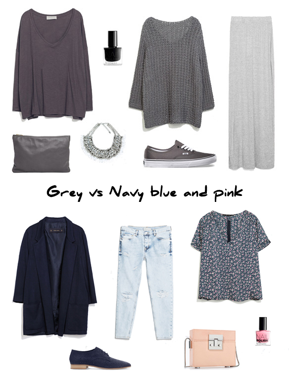15colgadasdeunapercha_finde_looks_grey_saturday_vs_navy_blue_and_pink_sunday_portada
