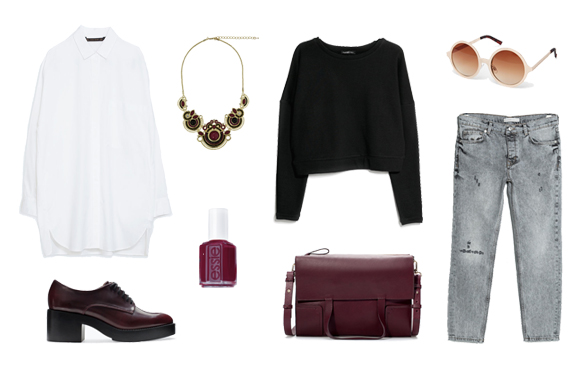 15colgadasdeunapercha_finde_looks_maroon_saturday_sabado_granate_vs_burgundy_sunday_domingo_burdeos_2