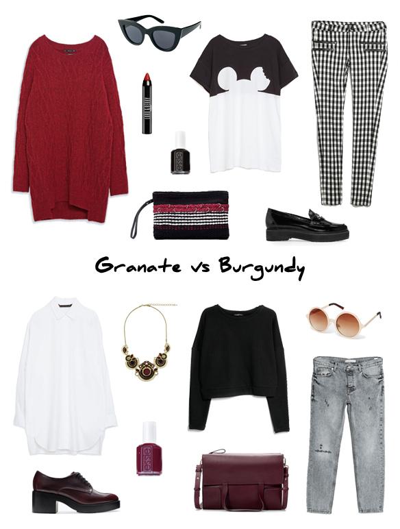 15colgadasdeunapercha_finde_looks_maroon_saturday_sabado_granate_vs_burgundy_sunday_domingo_burdeos_portada