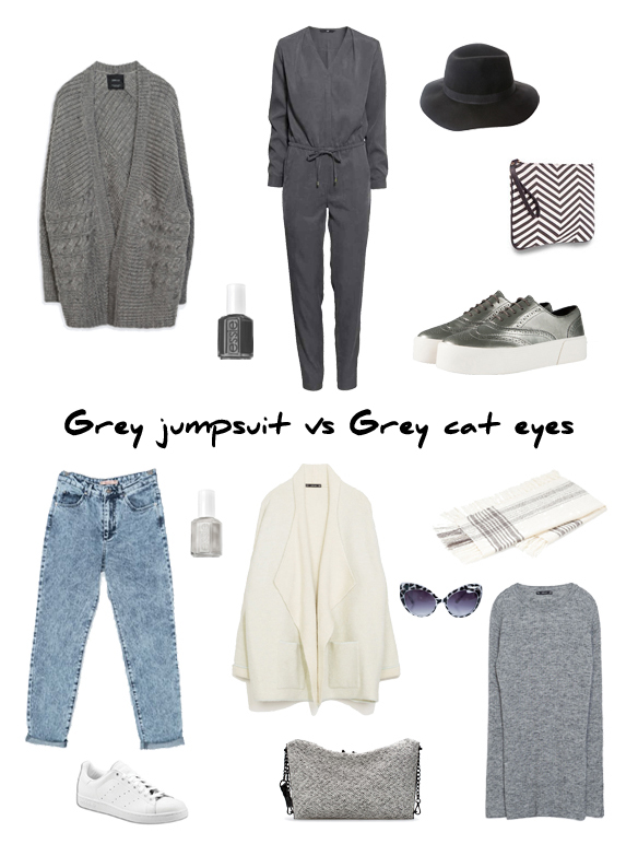 15colgadasdeunapercha_finde_looks_grey_jumpsuit_saturday_sabado_mono_gris_vs_grey_cat_eyes_sunday_domingo_cat_eyes_gris_portada