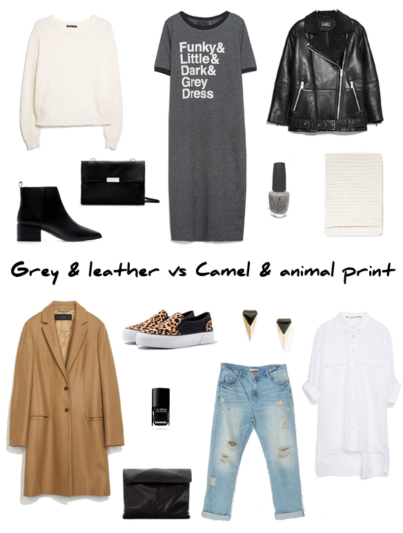 15colgadasdeunapercha_finde_looks_grey_leather_saturday_sabado_gris_cuero_vs_camel_animal_print_sunday_domingo_portada