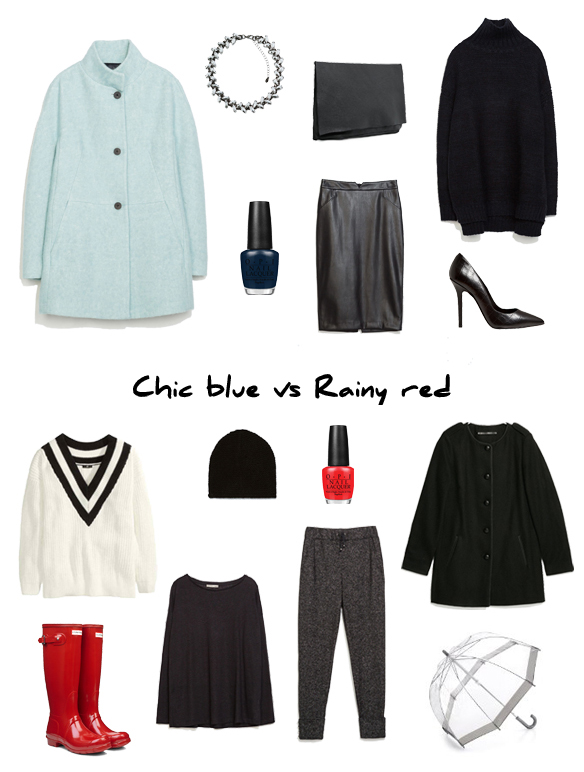 15colgadasdeunapercha_finde_looks_chic_blue_saturday_sabado_azul_chic_palo_vs_rainy_red_sunday_domingo_rojo_lluvia_portada