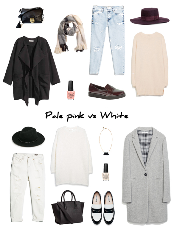 15colgadasdeunapercha_finde_looks_pale_pink_saturday_sabado_rosa_palo_vs_white_sunday_domingo_blanco_portada