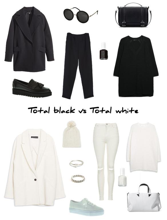 15colgadasdeunapercha_finde_looks_total_black_look_saturday_sabado_negro_vs_total_white_look_sunday_domingo_blanco_portada
