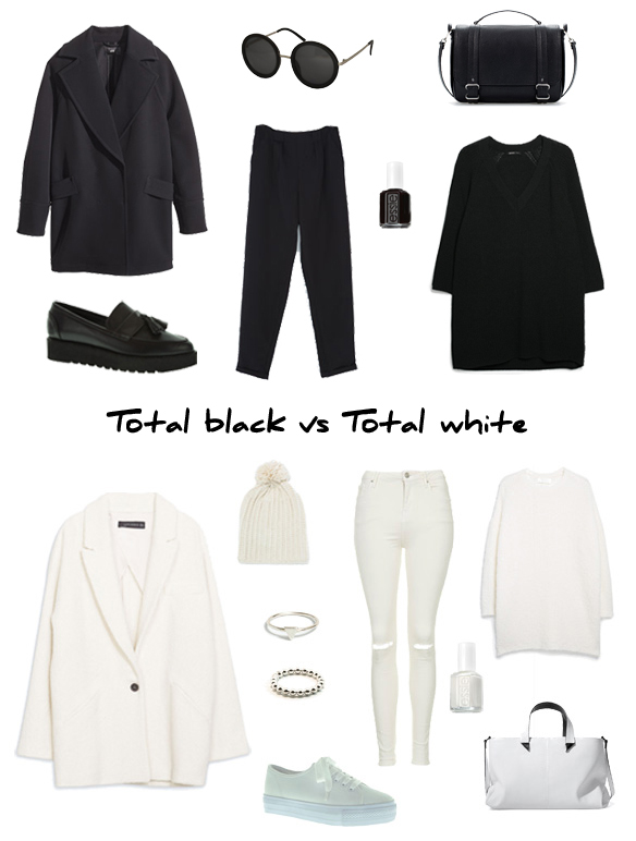 15colgadasdeunapercha_finde_looks_total_black_look_saturday_sabado_negro_vs_total_white_look_sunday_domingo_blanco_portada