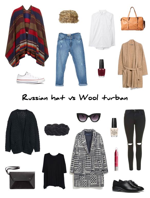 15colgadasdeunapercha_finde_looks_russian_hat_cap_saturday_sabado_gorro_sombrero_ruso_vs_wool_turban_sunday_domingo_turbante_lana_portada