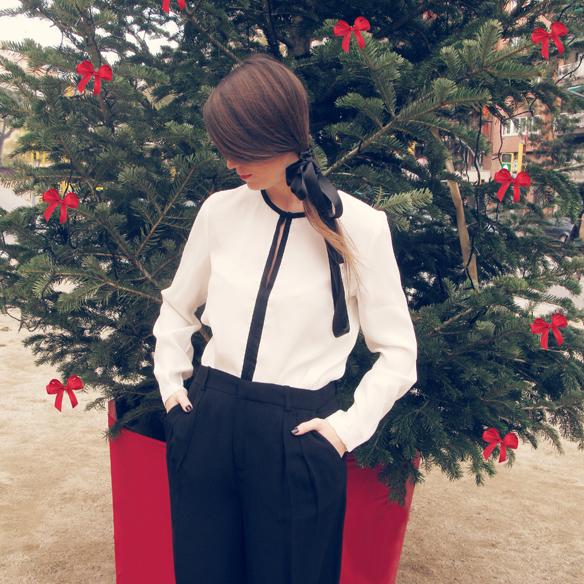 15colgadasdeunapercha_navidad_christmas_b&w_black_and_white_blanco_y_negro_palazzo_pants_cinta_pelo_headband_carla_kissler_1