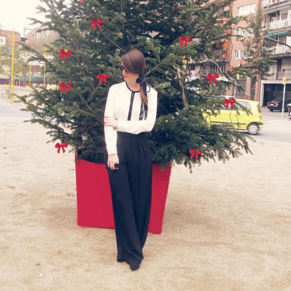 15colgadasdeunapercha_navidad_christmas_b&w_black_and_white_blanco_y_negro_palazzo_pants_cinta_pelo_headband_carla_kissler_2