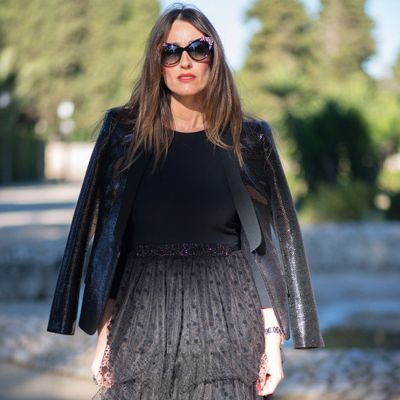 15colgadasdeunapercha_total_black_look_negro_plumeti_blazer_cat_eyes_sunglasses_ana_crank_1