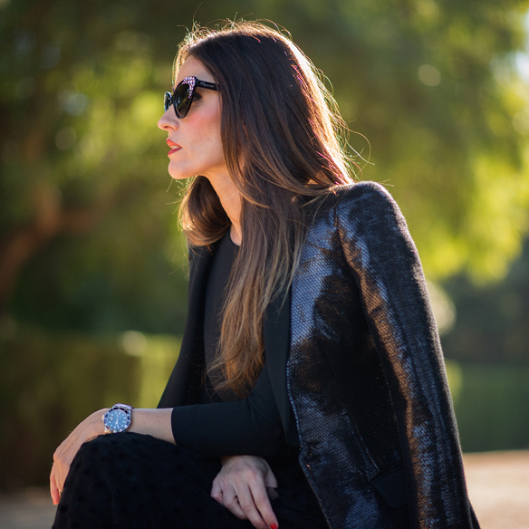 15colgadasdeunapercha_total_black_look_negro_plumeti_blazer_cat_eyes_sunglasses_ana_crank_2