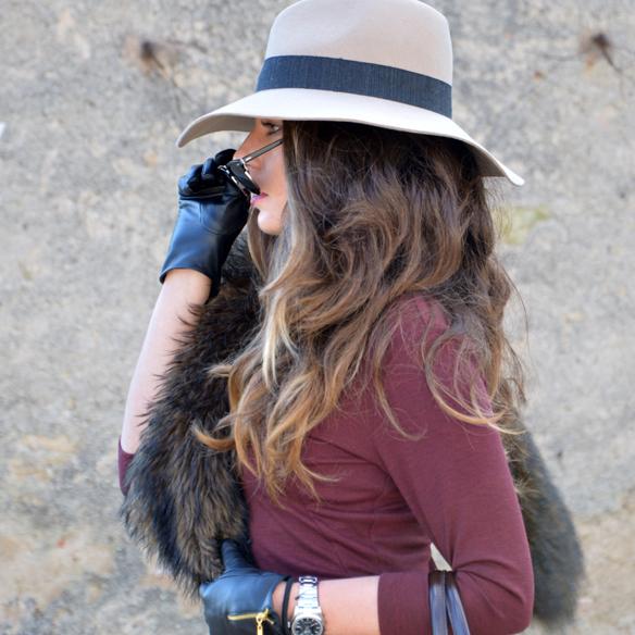 15colgadasdeunapercha_burgundy_burdeos_fur_pelo_sombrero_hat_vestido_dress_alicia_alvarez_5