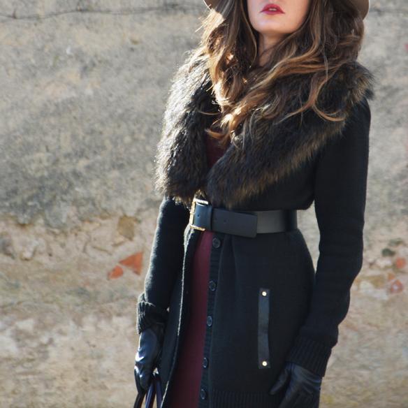 15colgadasdeunapercha_burgundy_burdeos_fur_pelo_sombrero_hat_vestido_dress_alicia_alvarez_8