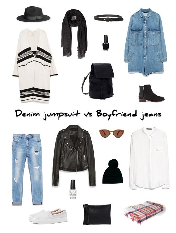 15colgadasdeunapercha_finde_looks_mono_tejano_sabado_denim_jumpsuit_saturday_vs_boyfriend_jeans_camisa_bambas_domingo_shirt_trainers_sunday_portada