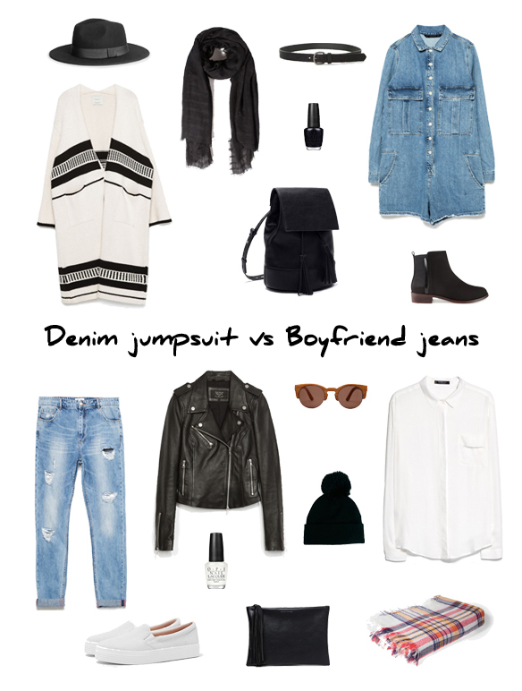 15colgadasdeunapercha_finde_looks_mono_tejano_sabado_denim_jumpsuit_saturday_vs_boyfriend_jeans_camisa_bambas_domingo_shirt_trainers_sunday_portada