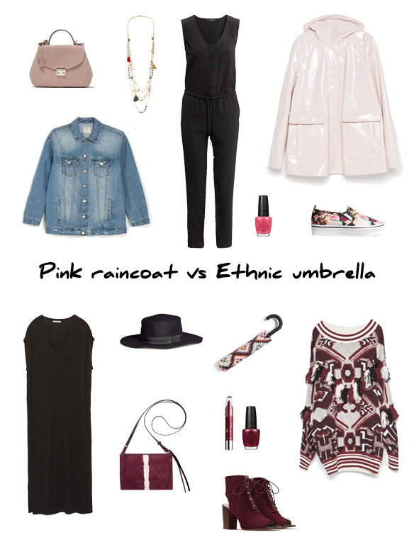 15colgadasdeunapercha_finde_looks_chubasquero_rosa_sabado_saturday_pink_raincoat_paraguas_etnico_domingo_sunday_ethnic_umbrella_portada