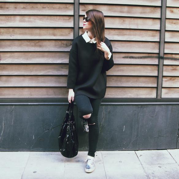 15colgadasdeunapercha_invierno_winter_neopreno_neoprene_silver_plateado_ripped_jeans_camisa_shirt_carla_kissler_4