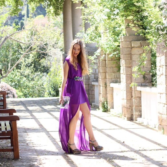 15colgadasdeunapercha_bodas_weddings_transparencias_marta_marti_atelier_lila_purple_cinturon_flores_floral_belt_clutch_transparente_julia_ros_2