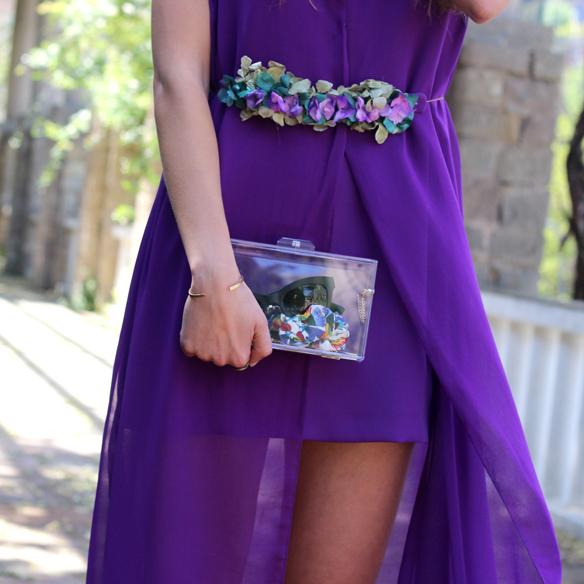 15colgadasdeunapercha_bodas_weddings_transparencias_marta_marti_atelier_lila_purple_cinturon_flores_floral_belt_clutch_transparente_julia_ros_5