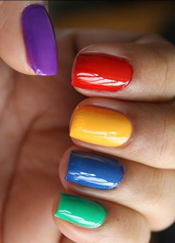 15colgadasdeunapercha-maquillaje-make-up-verano-summer-2015-manicura-color-block-manicure-nails-uñas-5