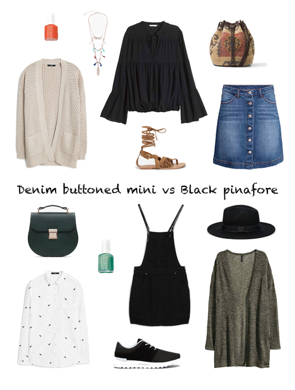 15-colgadas-de-una-percha-finde-looks-weekend-outfits-denim-buttoned-mini-skirt-mini-falda-abotonada-tejana-sabado-saturday-black-pinafore-pichi-negro-domingo-sunday