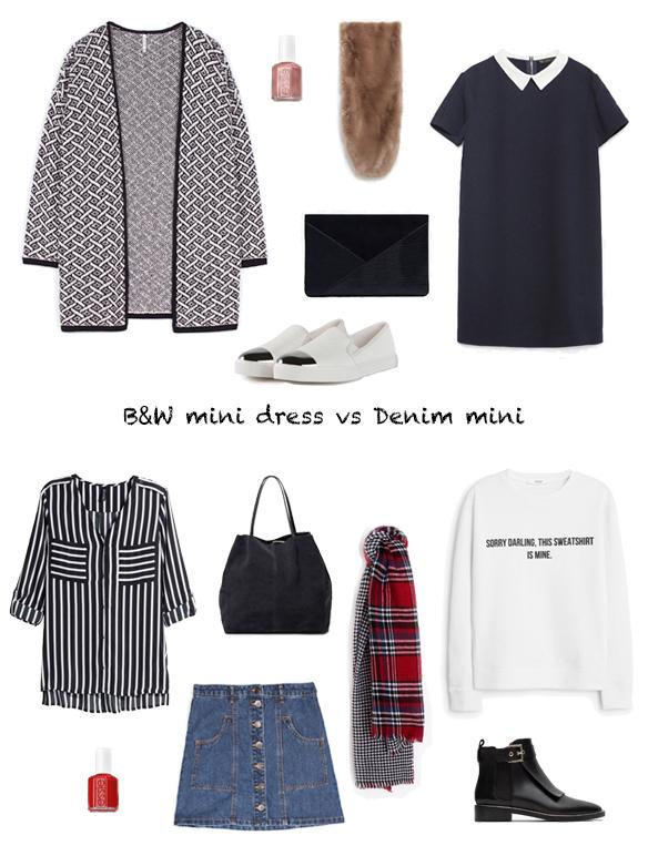 15-colgadas-de-una-percha-finde-looks-weekend-outfits-black-and-white-mini-dress-saturday-mini-vestido-blanco-y-negro-sabado-mini-denim-sunday-mini-tejana-domingo