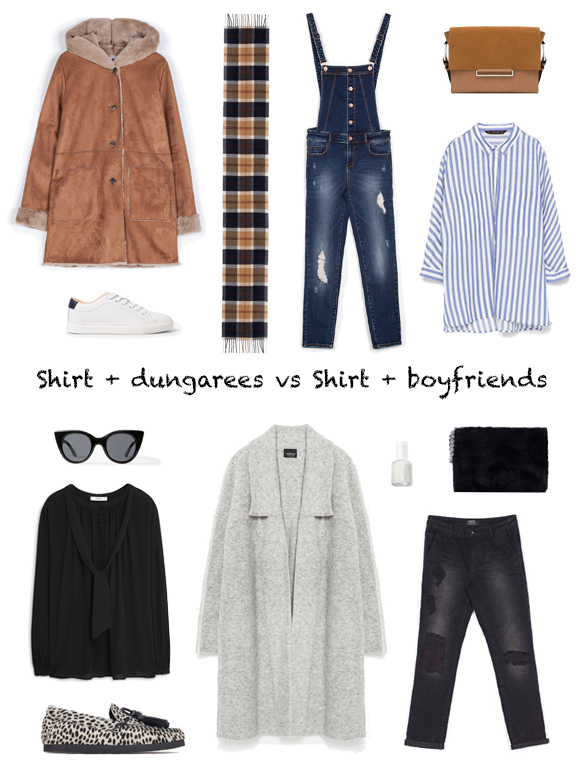 15-colgadas-de-una-percha-finde-looks-weekend-outfits-camisa-peto-sabado-saturday-shirt-dungarees-vs-camisa-boyfriend-jeans-domingo-shirt-boyfriends-sunday