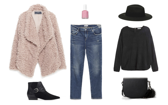 15-colgadas-de-una-percha-finde-looks-weekend-outfits-domingo-rosa-abrigo-oso-pink-teddy-coat-sunday