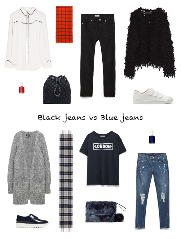 15-colgadas-de-una-percha-finde-looks-weekend-outfits-tejanos-negros-sabado-saturday-black-jeans-vs-tejanos-azules-blue-jeans-domingo-sunday