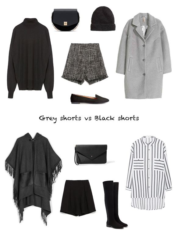 15-colgadas-de-una-percha-finde-looks-weekend-outfits-grey-shorts-grises-sabado-saturday-black-shorts-negro-domingo-sunday