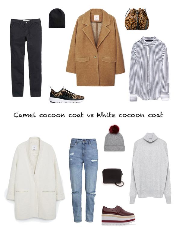 15-colgadas-de-una-percha-finde-looks-weekend-outfits-camel-cocoon-coat-abrigo-saturday-sabado-vs-white-cocoon-coat-abrigo-blanco-sunday-domingo