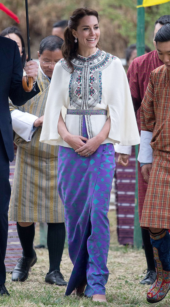 The style of… Kate Middleton in India and Bhutan tour – Colgadas de ...