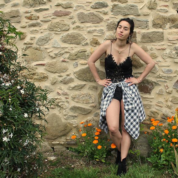 15-colgadas-de-una-percha-blanche-check-shirt-camisa-cuadros-lace-top-encaje-shorts-botines-booties-festival-outfit-look-festivalero-8